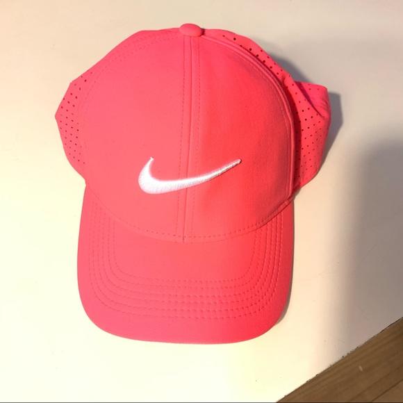 Fluorescent Neon Pink Nike Swoosh Baseball Hat